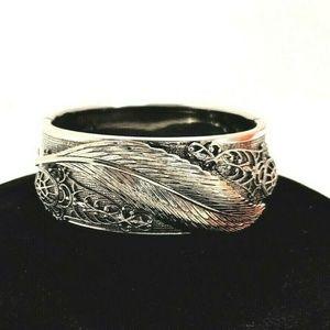 vintage Hinged Clamp wide Cuff Bracelet